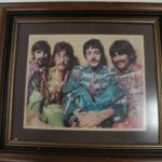 Autographed Beatles Framed Art up for auction in NY